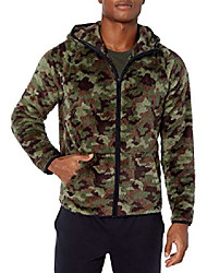 cheap -amazon brand - men's sherpa fleece jacket, camo, x-large