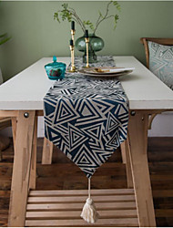 cheap -Nordic Jacquard Triangle Table Runner