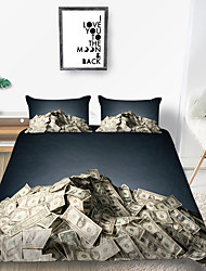 cheap -3D Vision Million dollars Print 3-Piece Duvet Cover Set Hotel Bedding Sets Comforter Cover with Soft Lightweight Microfiber(Include 1 Duvet Cover and 1or 2 Pillowcases)