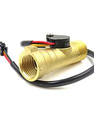 cheap -Electronic Flow Meter Electronic Flow Sensor solar water heater water flow meter G1/2 YF-B8 0.3-10L/M Magnetic valve