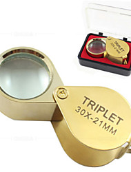 cheap -30x21 Portable Folding Magnifier Loupe Magnifying Glass Jewelry Coins Stamps Antiques