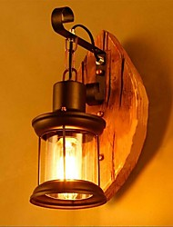 cheap -Wall Lamp Retro Vintage Rustic Nordic Glass Wall Scone 40W for Bedroom Bedside Industrial Wall Light Fixtures Bedroom Aisle Staircase Lamps