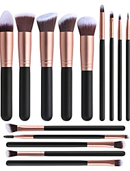 cheap -14 Hot Style Makeup Brushes No Logo Cross-Border Beauty Tools In Stock Foundation Brush Set