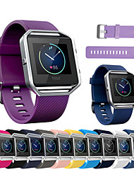 cheap -Silicone Watchband for Fitbit blaze Quick Release Soft Rubber Diving Sport Replacement Bracelet Strap Band for Smart Watch S/L
