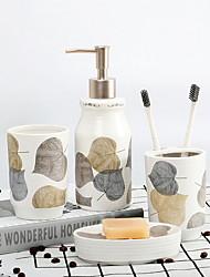 cheap -Bathroom Accessories Set, 4 Piece Ceramic Complete Bathroom Set for Bath Decor, Includes Toothbrush Holder, Soap Dispenser, Soap Dish, Mouthwash Cup  Holiday Bathroom Decoration Gift Idea
