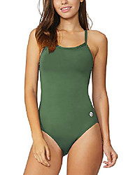 cheap -women& #39;s athletic training adjustable strap one piece swimsuit swimwear bathing suit armygreen 34