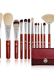 cheap -New 12 pcs makeup brush set beauty tools wooden handle makeup brush set portable soft hair makeup brush