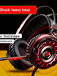 cheap -Gaming Headphone Wired Gamer Headphone Stereo Sound Headsets With Mic LED Light For Computer PC Gamer