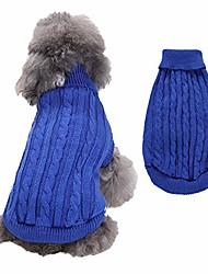 cheap -turtleneck dog sweater small dog sweaters knitwear warm pet sweater clothes for fall winter coat puppy clothing doggie sweater apparel for cold weather,dark blue,xxxl
