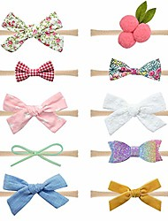 cheap -baby girls cherry flower and bow headbands floral hair bands nylon elastic 10pcs for newborn infants toddlers by