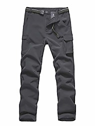 cheap -boys' winter hiking ski snowboarding pants, softshell pant, fleece lined and waterproof windproof for outdoor mountain (grey, s/8)