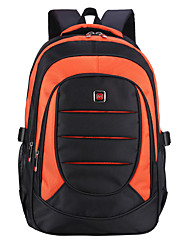 cheap -Unisex Polyester School Bag Commuter Backpack Functional Backpack Large Capacity Waterproof Zipper Solid Color Daily School Black Red Orange