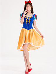cheap -Snow White Movie / TV Theme Costumes Princess Adults' Women's Movie / TV Theme Costumes Vacation Dress Halloween Halloween Festival Halloween Masquerade Festival / Holiday Lace Polyester Yellow