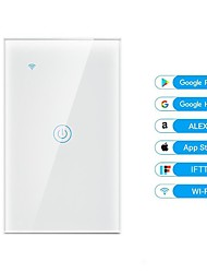 cheap -Smart WiFi Switch Panel Wall American Standard Switch Alexa/google Voice Control