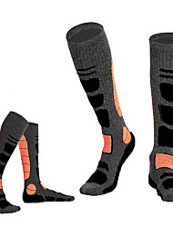 cheap -Multi Color Athletic Sports Socks / Ski Socks Men's Socks Autumn / Fall / Winter Skiing / Winter Sports / Back Country Woolen Ski / Snowboard / Winter Sports / Stretchy