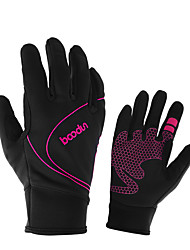 cheap -Winter Bike Gloves / Cycling Gloves Touch Gloves Windproof Breathable Warm Wearable Full Finger Gloves Sports Gloves Fuchsia Blue Orange for Adults' Cycling / Bike Activity & Sports Gloves
