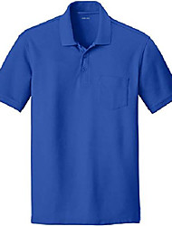 cheap -mens classic pocket polo shirt-royal-l