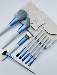 cheap -9 Pcs blue meow animal hair makeup brushes super soft wool brush set beauty tools