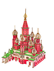 cheap -3D Puzzle Jigsaw Puzzle Metal Puzzle Famous buildings DIY Metalic Aluminium Classic Adults' Unisex Toy Gift