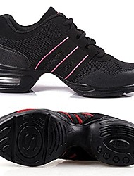 cheap -woman´s dance sneaker mesh leather jazz, ballroom, ballet black (6.5)