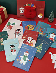 cheap -5pcs 3D Christmas Decorations Christmas Ornaments Cards