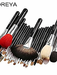cheap -brand 26pcs luxury natural goat hair fan makeup brushes professional cosmetic makeup