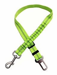 cheap -green adjustable dog seat belt pet lead leash harness reflective car vehicle safety seat belt with elastic bungee buffer by samgreatworld