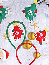 cheap -Christmas Toys Hair Band Photo Booth Props Christmas Tree Decoration Party Favors Plastic 2 pcs Kid's Adults 10cm*10cm*10cm Christmas Party Favors Supplies