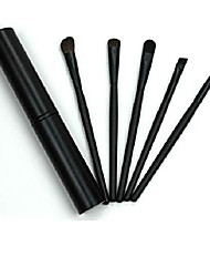 cheap -eye eyeshadow 5pcs professional makeup eye eyeshadow brush brushes cosmetic set+round tube for eye shadow (one size, black)