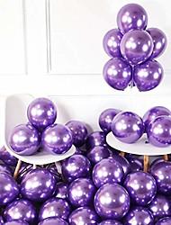 cheap -chrome purple balloons 12inch 50pcs latex balloons metallic party balloons birthday helium balloons