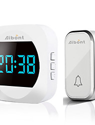 cheap -T195 Wireless Doorbell Smart Household DoorBell With Time Display Volume Adjustable Mutil Use for Home Apartment OfficeSelf-powered No Battery Required Doorbell