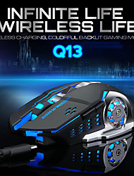 cheap -2.4Ghz Wireless Gaming Mouse Silent Ergonomic Rechargeable Optical Mice 6 Keys 2400 DPI Mouse LED RGB For Computer Pro Gamer