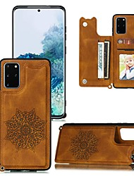 cheap -Case For Samsung Galaxy Galaxy S20 FE 5G / S20 Plus / S20 Ultra Wallet / Card Holder / with Stand Back Cover Solid Colored PU Leather