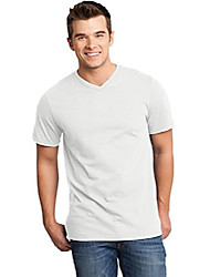 cheap -men's young very important tee v neck, white, 3x-large