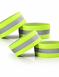 cheap -adjustable elastic lightweight high visibility reflective wristbands, arm wrist ankle leg bands, bike pants cuff straps, for running, walking, jogging,cycling,motorcycle(green,4 pack)