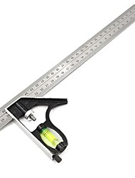 cheap -300Mm Adjustable Combination Square Angle Ruler 45 / 90 Degree With Bubble Level Multifunctional Gauge Measuring Tools