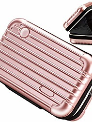 cheap -cosmetic bag, handbag cases organizer carrying hard bags for toiletry beauty makeup electronic accessories overnight travel with zipper inner pocket water resistant crashproof - rose gold
