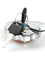 cheap -Aluminium Motorcycle Fuel Gas Tank Cap Cover Lock Set For Honda CG125 Replacement