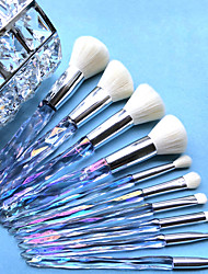 cheap -Professional Makeup Brushes 10pcs Soft for Makeup Brush Sets of Laser Crystal Diamond Makeup Brushes
