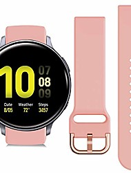 cheap -compatible with active 2 watch band 44mm galaxy watch 40mm42mm band 20mm watch band non-fading silicone breathable replacement band (pink)