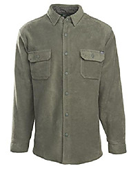 cheap -men's andes fleece shirt jacket, field gray, x-large