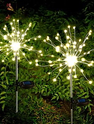 cheap -Outdoor LED Solar Fireworks Lights LEDs Waterproof String Fairy Light For Home Garden Street Christmas Decoration