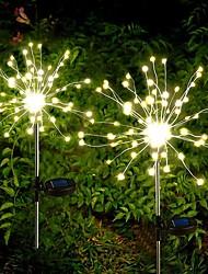 cheap -Outdoor LED Solar Lights Fireworks Lights LEDs Waterproof String Fairy Light For Home Garden Street Christmas Decoration
