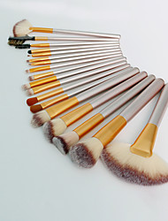 cheap -12Pcs/18Pcs/24 Pcs Makeup Brushes Set Creamy Champagne Makeup Brushes Series Soft Brush With Bag Eyeshadow Brush