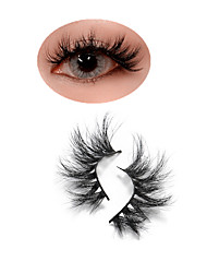 cheap -Mink Lashes 100% Cruelty free Fluffy Wispy Long lasting Eye Lashes Mink Eyelashes Solt False Eyelashes