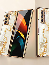 cheap -Case For Samsung Galaxy Galaxy Z Fold 2 Shockproof / Dustproof Back Cover Lines / Waves / Marble PC