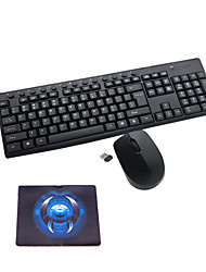 cheap -Wireless Keyboard Mouse Pad Set 2.4GHz Portable Multimedia 104 Keys Keyboard Notebook Laptop For Office Home