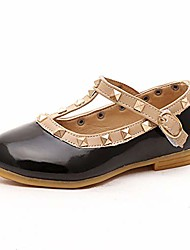 cheap -kid baby girl studded t-strap flat prince shoes for girl(black-eu 22/5.5 m us toddler)