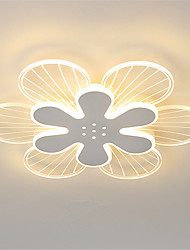 cheap -42/52/62 cm Led Flower Shape Ceiling Lamp Modern Simple Living Room Lamp Family Dining Room Petal Lamp Warm Romantic Room Bedroom Lamp