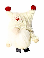 cheap -christmas gnome doll gifts, cute swedish tomte plush doll, nordic santa gnome handmade pendant for ornament, christmas, thanksgiving, holiday decorations, home party xmas tree decor (beige, pvc)